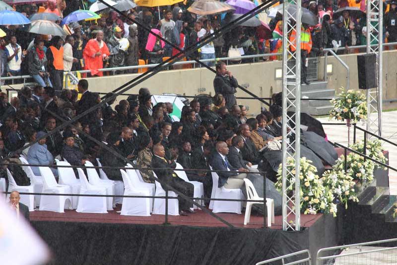 Mandela family members attending the memorial service