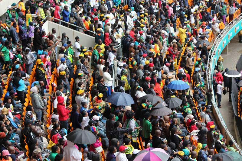 Crowds filled the stadium at Tata Madiba's memorial service