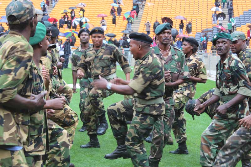 Umkhonto Wesizwe veterans sang struggle songs at the memorial service of their first Commander in Chief, Nelson Mandela