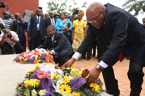 Unveiling of Matola Raid Monument and Intepretive Centre