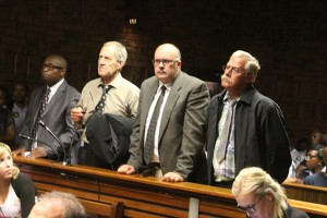 The accused, Messrs Radebe , Coetzee, Pretorius and Mong
