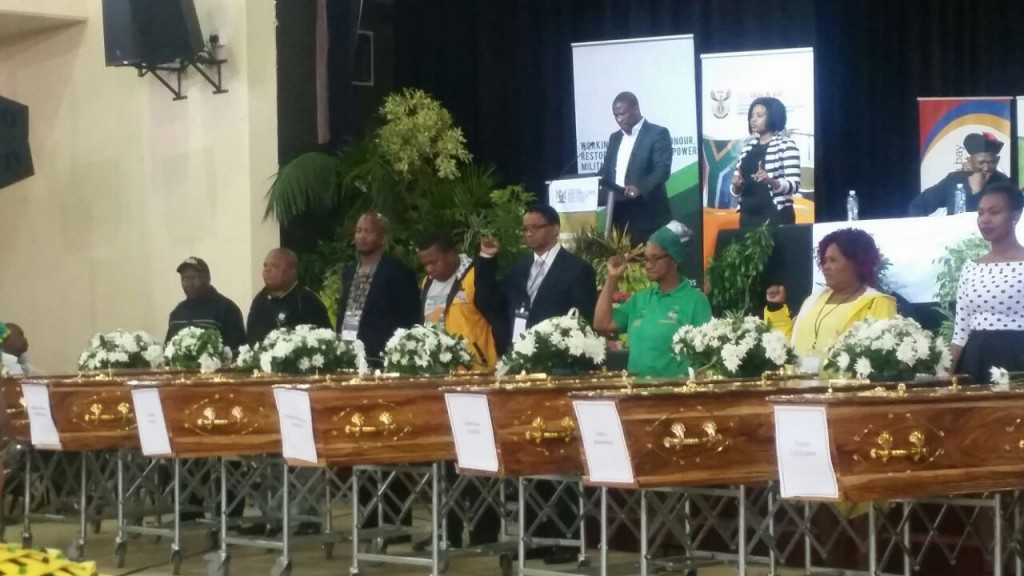 Exhumed UDF activists laid to rest